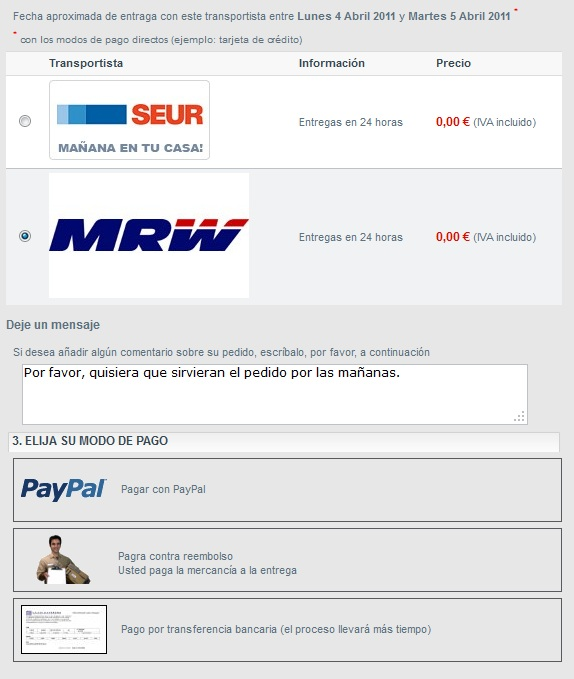 Proceso de compra facil en tucajonsecreto.com